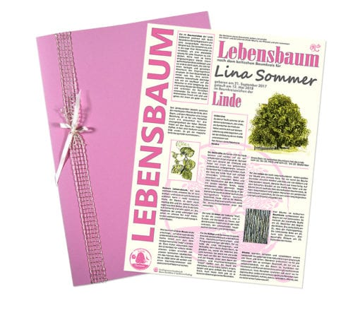 """Lebensbaum Urkunde """"Modern Mädchen"""""""