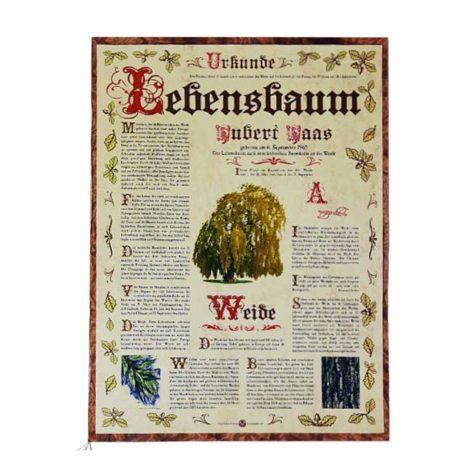 """Lebensbaum Urkunde """"Antik"""""""