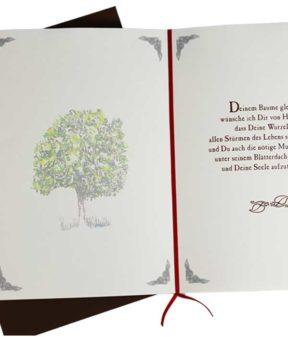 Lebensbaum Geschenkkarte