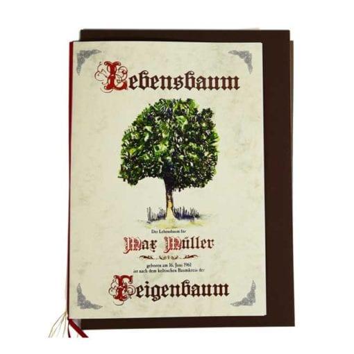 "Lebensbaum Geschenkkarte ""Antik"""
