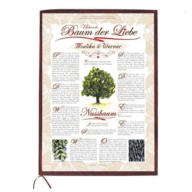 baum der liebe urkunde exklusiv lebensbaum geburtstag taufe hochzeit baumkreis. Black Bedroom Furniture Sets. Home Design Ideas