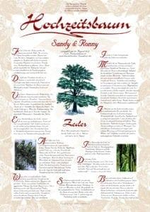 Hochzeitsbaum Urkunde Exklusive Zeder