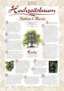 Hochzeitsbaum Urkunde Exklusiv Eiche Dauerhaftigkeit