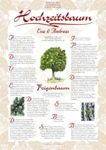 Hochzeitsbaum Urkunde Exklusiv Feigenbaum Harmonie