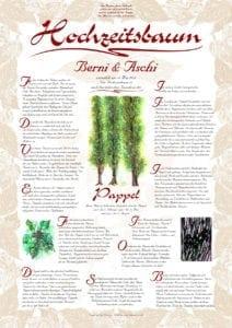 Hochzeitsbaum Urkunde Exklusive Pappel