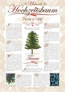 Hochzeitsbaum Urkunde Exklusiv Tanne