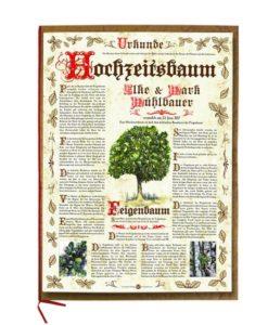 Hochzeitsbaum Urkunde Antik
