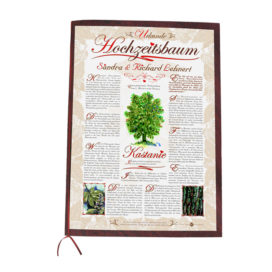 Hochzeitsbaum Urkunde Romantik