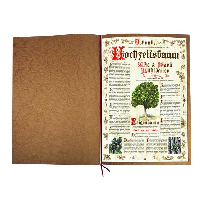 """Hochzeitsbaum Urkunde """"Antik"""""""