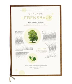 """Lebensbaum Urkunde """"Premium"""""""