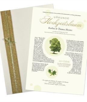 Hochzeitsbaum Urkunde