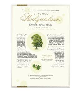Hochzeitsbaum Urkunde Premium
