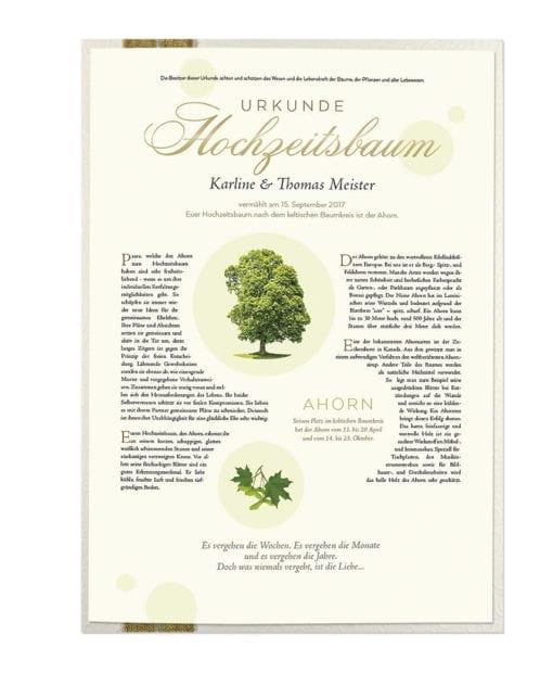 """Hochzeitsbaum Urkunde """"Premium"""""""